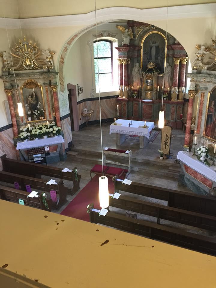 Kirche von oben