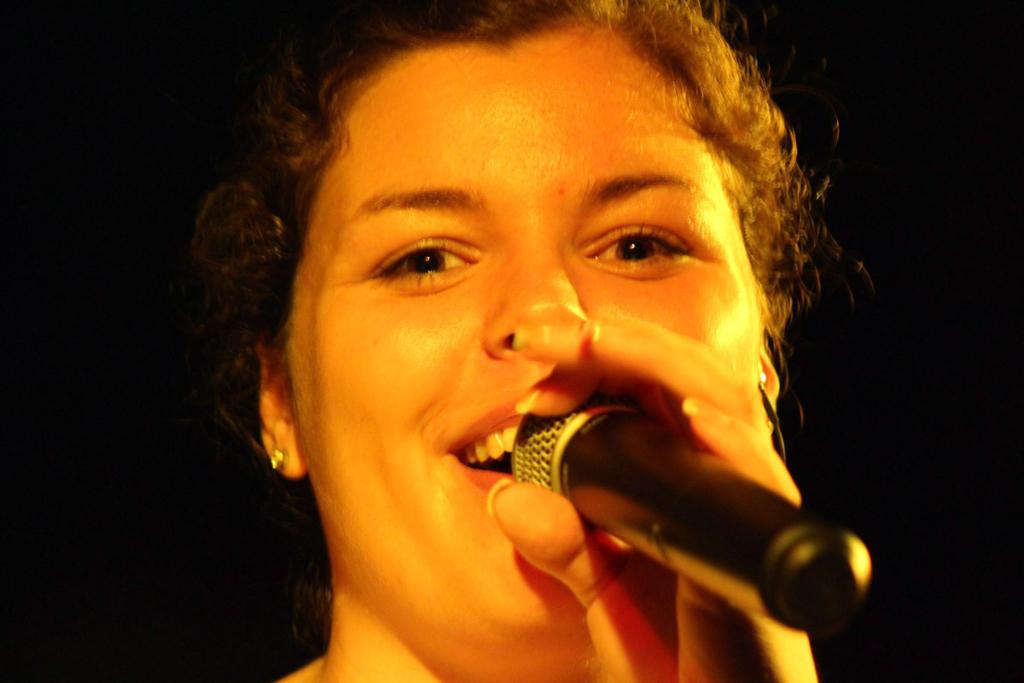 Steffi auf der Bühne