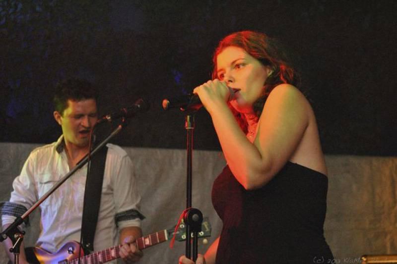Steffi mit Flashback auf der Bühne