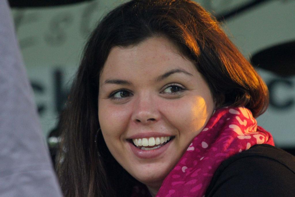 Steffi lächelnd
